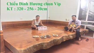 Kê xong nhà chú Hà, Tứ Trưng chiếu 2 tấm Đinh Hương vân chun - Gỗ Việt Bắc