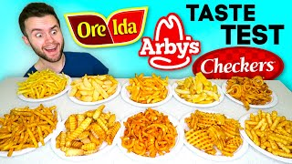 I Tried Every Kind Of Frozen FRIES From The Store... BEST & WORST! Arbys, Ore-Ida, & MORE!