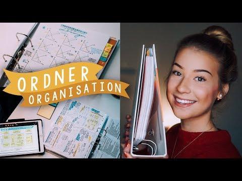 MEINE ORDNER-ORGANISATION/GLIEDERUNG - BWL STUDIUM // JustSayEleanor
