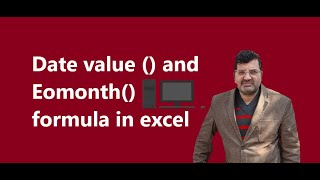 Date value and Eomonth formula in excel
