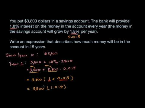 Exponential expressions word problems (numerical) (video ...