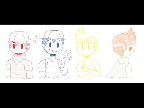 Doodling Ninten, Ness, Lucas and Claus - смотреть онлайн на