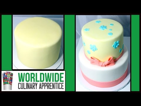 How to Stack and Decorate Two Tier Cakes - Cake Decorating - Pastry Class