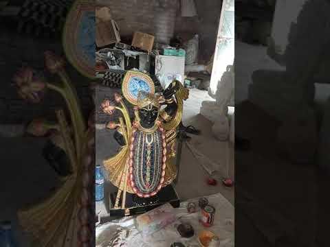 Black Marble Shree Nath Statue