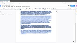 Formatting A Cover Letter Using Google Docs
