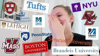 i applied to 18 schools... here's what happened // College Decision Reactions 2019