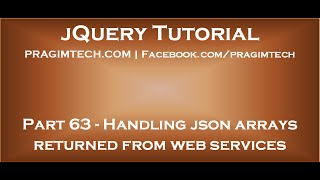 Handling json arrays returned from asp net web services with jquery