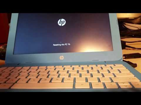 How to reset fix HP Stream in endless loop of not booting to windows