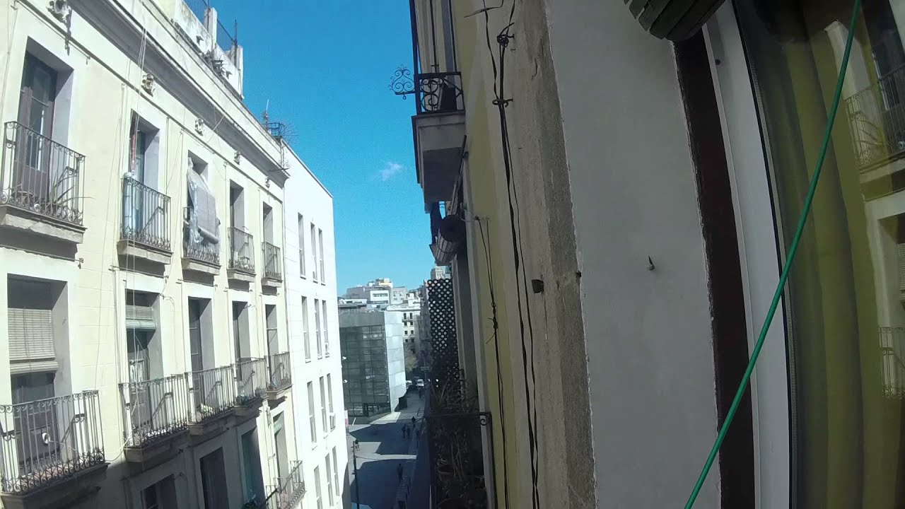 Cozy room with standalone wardrobe in shared apartment, El Raval