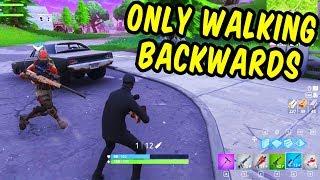 We won only walking backwards - Fortnite Funny Moments