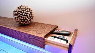 8ft Floating Shelf With Hidden Storage | DIY Build