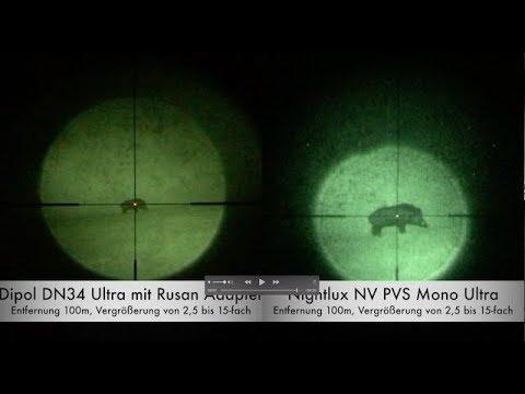 Nachtsichtvorsatzgeräte (Pulsar FN155, Dipol) vs. NV-Monokular von Nightlux