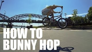 How to Bunny Hop on a BMX Bike - Как сделать Банни-хоп [Дима Гордей] | Школа BMX Online