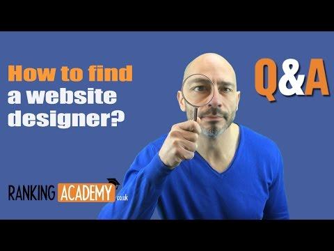 How to find a website designer