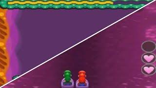 Mario & Luigi: Bowser's Inside Story 3DS vs. DS - Rump Command Minigame Comparison