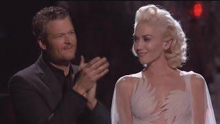 Proud Blake Shelton Gives Gwen Stefani Standing Ovation Following Emotional 'Voice' Performance
