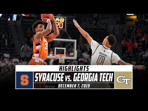 Syracuse vs. Georgia Tech Basketball Highlights (2019-20) | Stadium