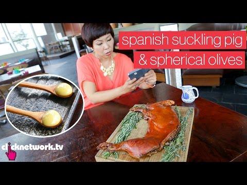Spanish Suckling Pig & Spherical Olives - Foodporn: EP7
