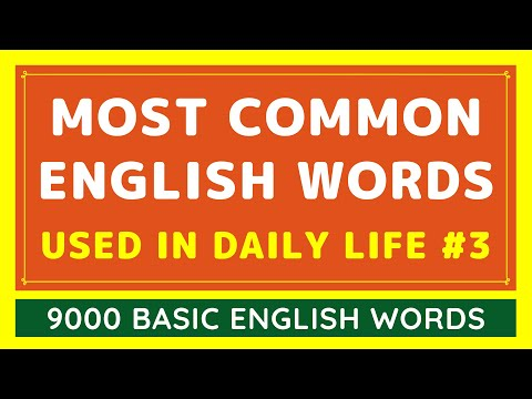 9000 Most Common English Words Used in Daily Life #3