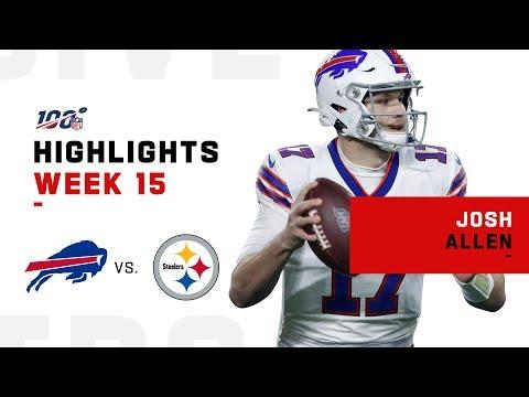 Josh Allen Highlights vs. Steelers   NFL 2019