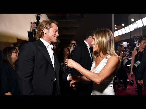 Watch Brad Pitt and Jennifer Aniston Reunite and Win BIG! | SAG Awards 2020