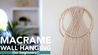 DIY Macramé Wall Hanging | Intro To Macramé