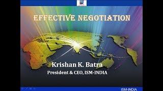 Effective Negotiation