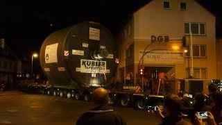 preview picture of video 'Schwertransport in Alfeld'