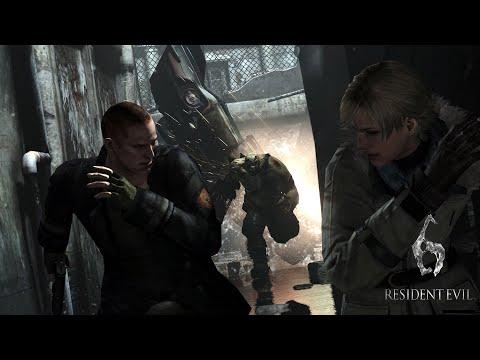 Resident Evil 6 Прохождение с комментариями на русском (Джейк) Погоня!. Часть 6