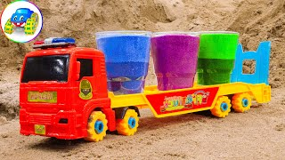 Toy Cars - Search For Cars In The Color Sand | Kid Studio