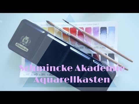 Schmincke Akademie Aquarellkasten - unboxing & first try