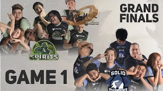Solid Pushers vs Idle Spirits Game 1 (Bo3) | Lupon Civil War Season 3 Finals