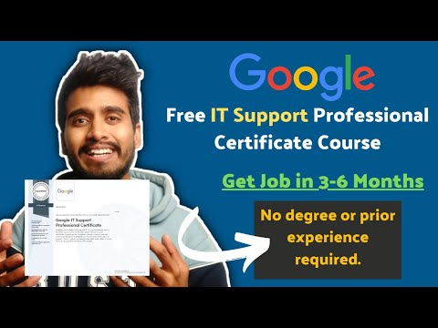Free Google IT Support Professional Certificate Course   Get Job in ...