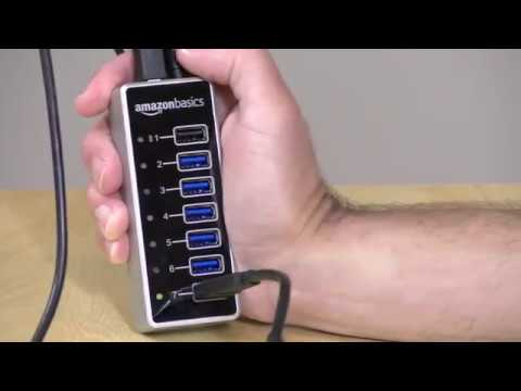 AmazonBasics 7-Port USB Hub with Power Adapter Review