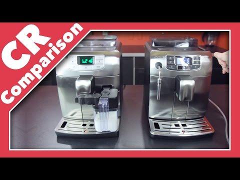 , Saeco Intelia Cappuccino Deluxe Automatic Espresso Machine, Stainless Steel, HD8771/93