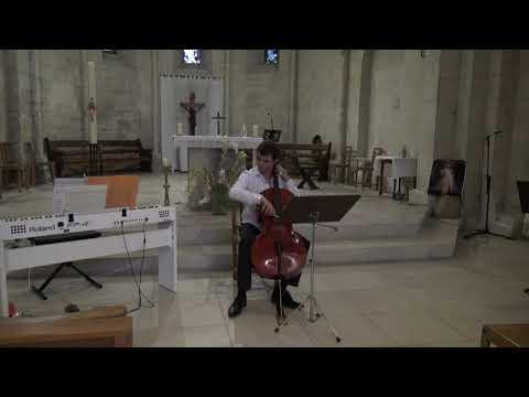J.S. Bach Gigue de la 4ème Suite pour violoncelle seul<br /> <br /> Marc-Antoine Novel, violoncelle<br /> Basilique Sainte-Anne de Bonlieu-sur-Roubion 20 août 2020