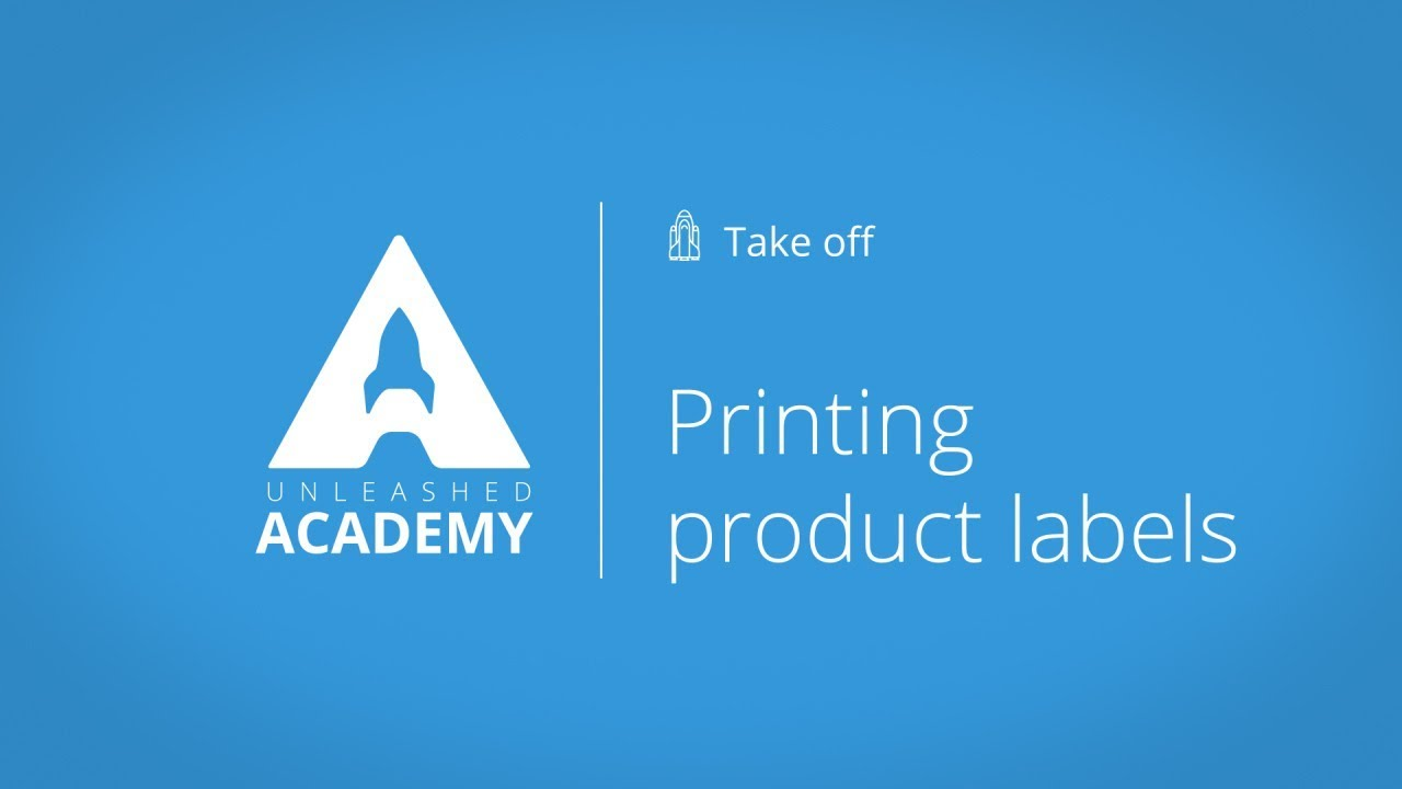 Printing product labels YouTube thumbnail image