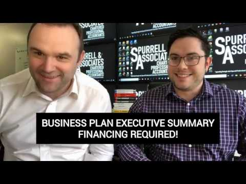 Business Plan Executive Summary Financing Required