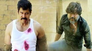 South Superstar Chiyaan Vikram Recent Powerpacked Action Scene   70MM Movies