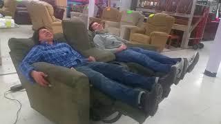 Double power reclining love seat by La z Boy
