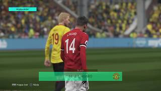 PES 2018 GAMEPLAY GOALS AND HIGHLIGHTS MANCHESTER UNITED - WATFORD