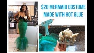 DIY Mermaid Costume Tutorial | Mermaid Crown, Shell Top & Sequin Tail |  UNDER $20 |  NO SEWING