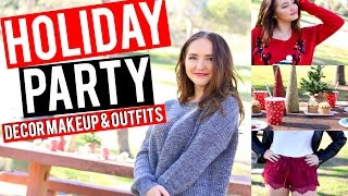 Holiday Party Makeup, Outfits & Decor! | Kenzie Elizabeth