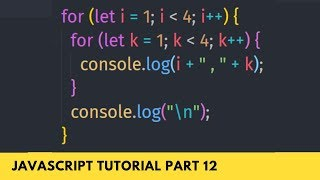 Nested For Loop Important for Dynamic Array  - JavaScript Tutorial Part - 12