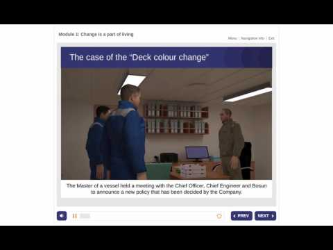 Resilience e-learning course for maritime - Module 1, Change is a ...