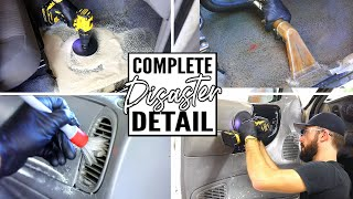 Complete Disaster Full Interior Car Detailing Transformation! Dirtiest Car Detailing Series Ep. 14