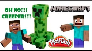 How to make Play-doh Minecraft Creeper Skin - Crafts and toys by Play-doh Creator Майнкрафт Крипер