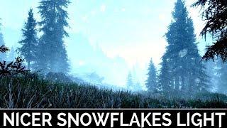 Skyrim Special Edition: ▶️Nicer Snowflakes Light◀️ Mini Mod Showcase