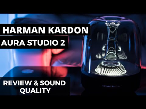 Harman Kardon Aura Studio 2 –  Unboxing – Review – Sound Test –  Bluetooth Home speaker 2018