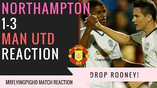 Northampton VS Manchester United 13 DROP ROONEY